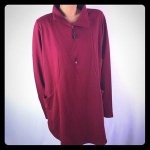 NWT Nola long sleeve red sport sweater Sz 3X
